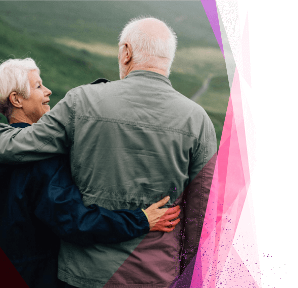 older couple embracing